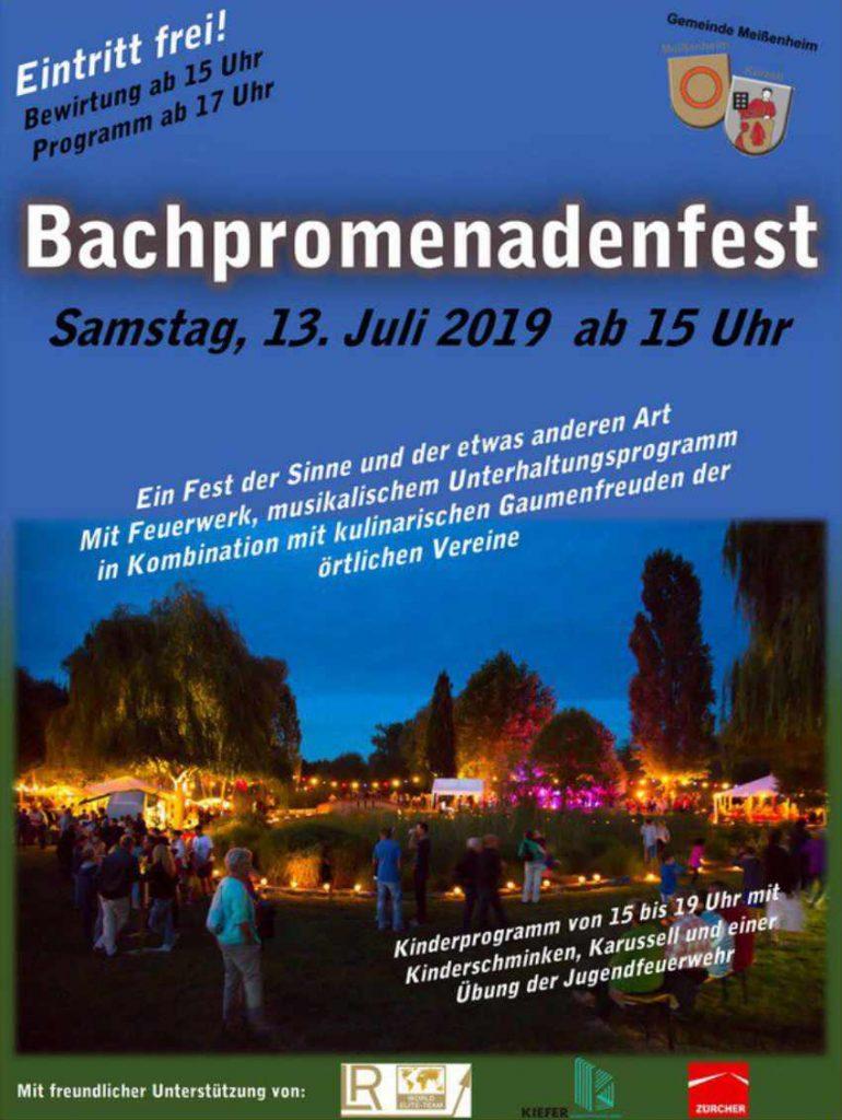 Einladung Bachpromenadenfest 2019