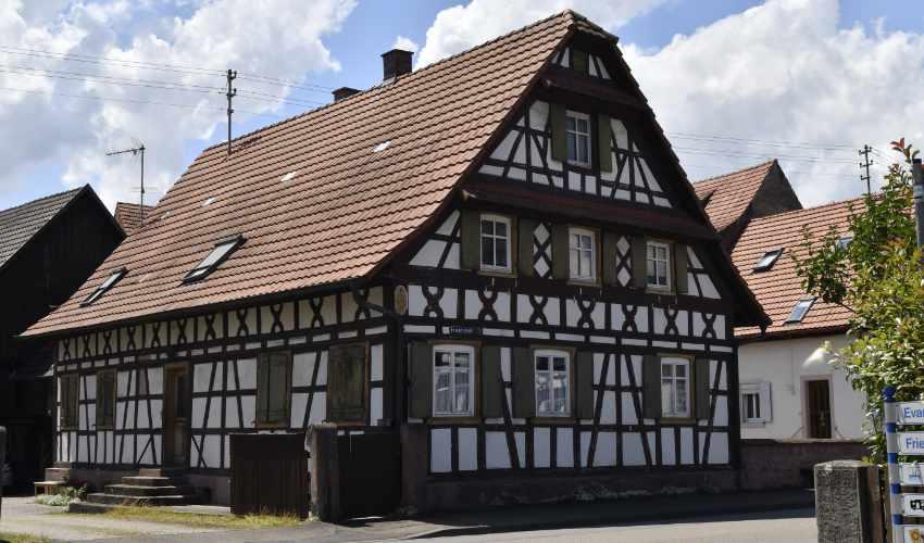 Beispiel eines Fachwerkhauses in Meißenheim
