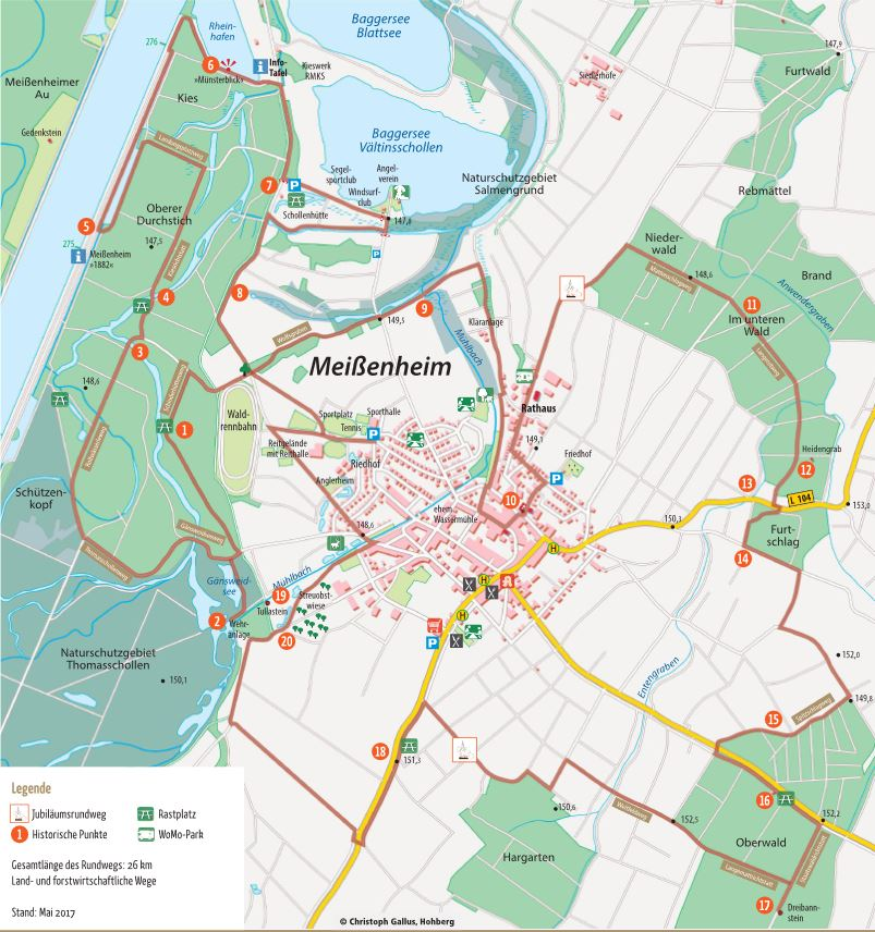 Karte Jubiläumsrundweg