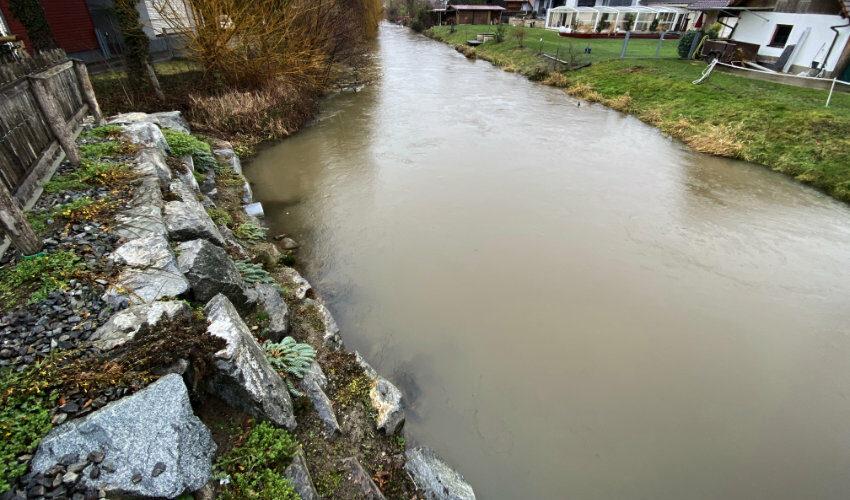 Reduzierung des Zuflusses des Mühlbachs